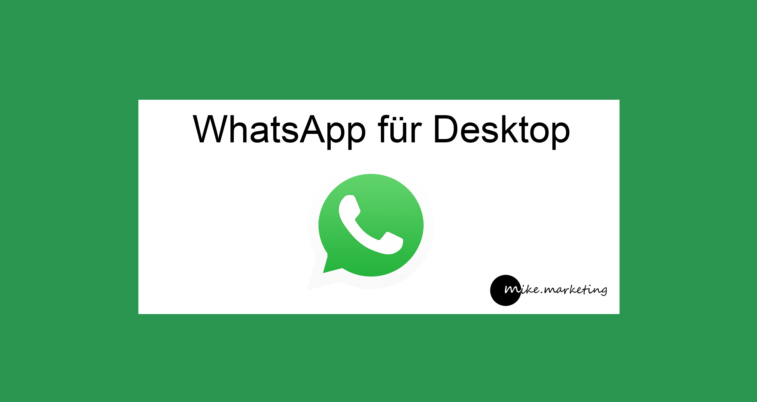 WhatsApp fuer Desktop